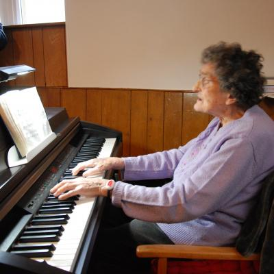 100 years old - Organist Miss Joyce Morse