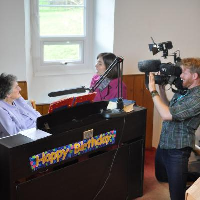 BBC TV Points West with Joyce Morse on her 100th Birthday