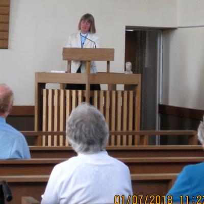 The final service in Lydney Methodist Church