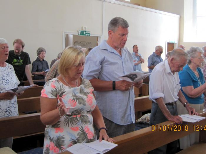 Worshippers at Lydney